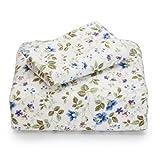 Laura Ashley Flannel King Sheet Set, Spring Bloom
