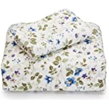 Laura Ashley Flannel King Sheet Set, Spring Bloom