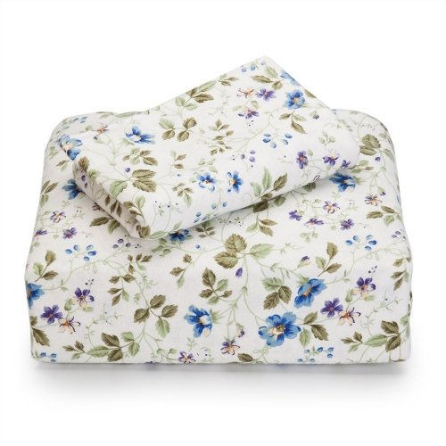 Laura Ashley Flannel Queen Sheet Set, Spring Bloom