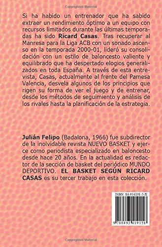 EL BASKET SEGÚN RICARD CASAS (Spanish Edition): Julián ...