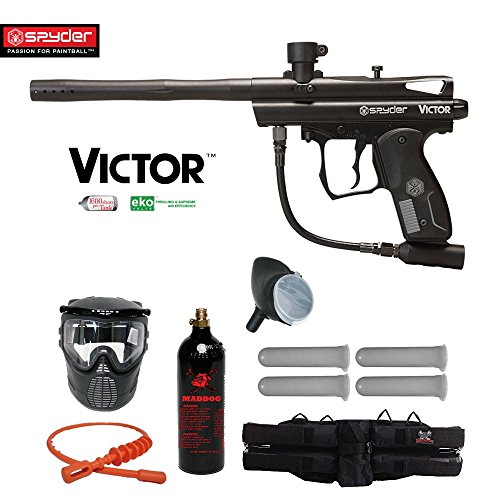 MAddog Spyder Victor Silver Paintball Gun Package – Black Review