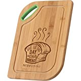 Give Us This Day Our Daily Bread Matthew 6:11 Wood Cutting Board with Handle