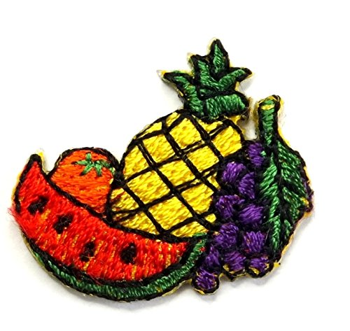 【ノーブランド品】アイロンワッペン ミニワッペン ワッペン 刺繍ワッペン 果物 フルーツ アイロンで貼れるワッペンの商品画像