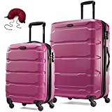 Samsonite Omni PC 2 Piece Set Spinner 20 and 24 With Travel Pillow (One Size, Radiant Pink)