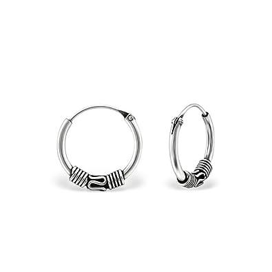 Sterling Silver Bali 20mm Ear Hoops VrvUaT