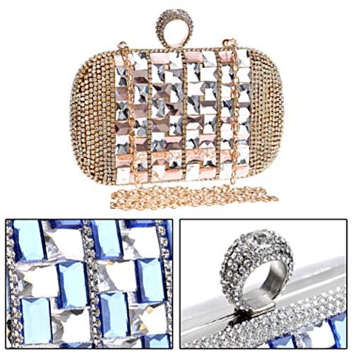 Sac Chaîne à Bal Bandouliere Maquillage Mariage Sac pour Gold Pochette Clutch Femme Main Soirée Bourse Fête 1vtWwqB