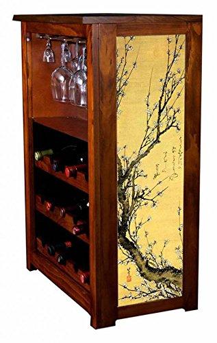 """Flowering Plum"" by Hiroshige Wine Cabinet"