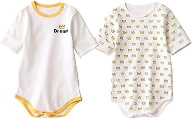 Odziezet Mono Impresión de la Corona para Bebe Niño - 100% Algodón Body para Recién Nacido Mameluco Peleles Bodies 2 Paquetes 0-6 Meses: Amazon.es: Ropa y accesorios