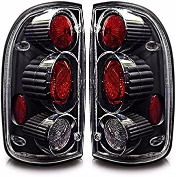 For 2001-2004 Toyota Tacoma Altezza Black Housing Clear Lens Tail Lights Lamps