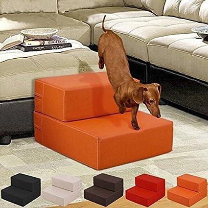 Paleo Gato perro portátil plegable de cuero cubierto escaleras suben 2step rampa sofá cama impermeable accesorios