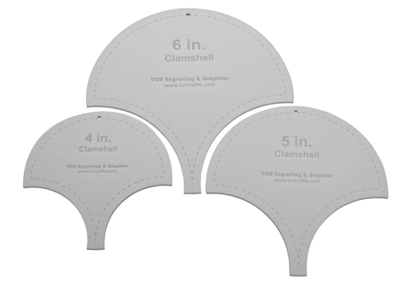 Clamshell Templates 4 6 5 - Clear Acrylic 1//8