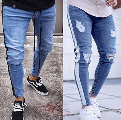 Pantaloni Con Strappati Hellblau2 lannister Jeans Skinny Uomo Da Ragazzo Qk Elasticizzati Zip Nastrati q6U5W