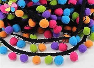 1yard/lot Pom Pom Trim Ball Fringe Ribbon DIY Sewing Accessory Lace (Type 1 12mm)