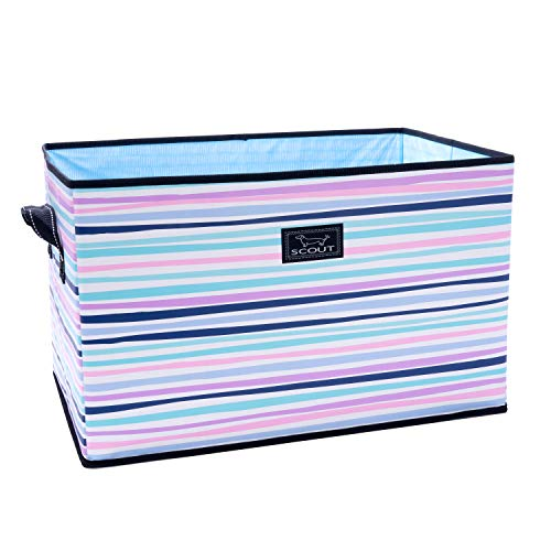 SCOUT Junque Trunk Extra Large Collapsible Storage Bin, Folds Flat with Reinforced Bottom, Water Resistant (Big Little Lines)