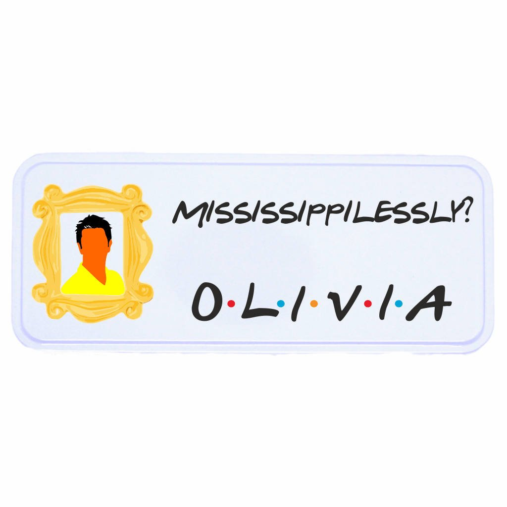 Ross Friends TV Show Personalised Pen Gift Mississippilessly?