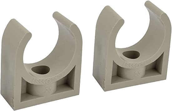 Suitable for 3//4inch Applied to Pex//PVC Tubing Pipe Support 50Pcs PVC Pipe Clamp with Nail 25mm Tubes