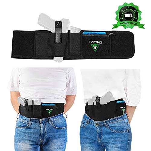 Belly Band Holster for Concealed Carry   Fits with Laser Sight   Neoprene Elastic CCW IWB Belly Holster for Pistols, Revolvers, Handguns   Support Glock, Sig Sauer P365, S&W Shield, Ruger LCP and more