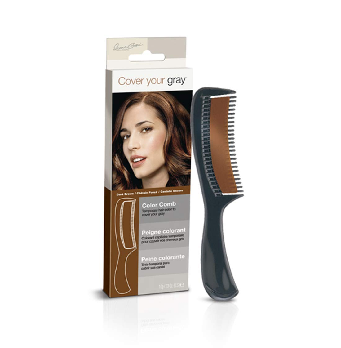 Cover Your Gray Color Comb Dark Brown Hair Daggett & Ramsdell IG-CCD