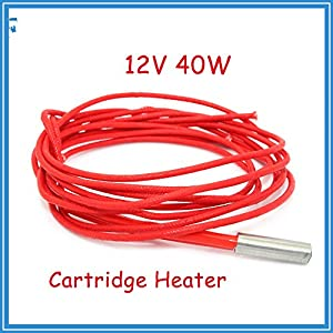 12V 40W Ceramic Cartridge Heater 6mm20mm For Extruder 3D Printers Parts Heating Tube Heat 12V40W 1M Extrusion Part from HANDOO