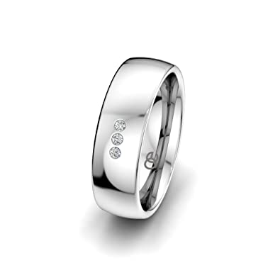 Moncoeur Verlobungsring Classic Trilogy 925 Sterling Silber