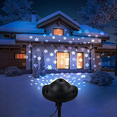 Christmas Projector Lights Outdoor, Renfox Snowfall Lights LED Projector IP65 Waterproof with Remote Controll for Christmas, Holiday, Party, Wedding, Garden, Patio