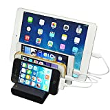 4 Port USB Hub Charging Dock Station Charger Stand Organizer for Tablet Smartphone.Compatible with Ipad.iPhone