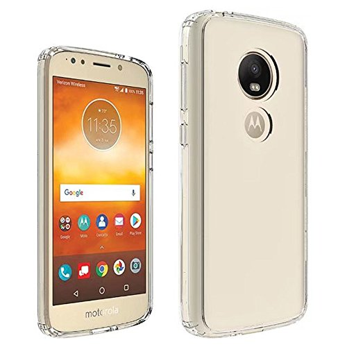For Moto E5 Plus Case - Transparent Shockproof Silicone TPU Case Skin Cover Anti-Drop Soft TPU Motorola E5 Plus Full Coverage Clear Transparent Soft Slim and Lightweight Protective Case - Motorola Phone Skin