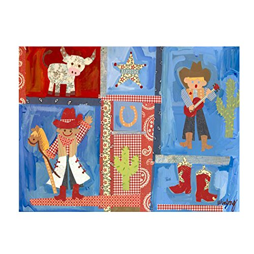 Oopsy Daisy Cowboys Stretched Art by Oopsy Daisy