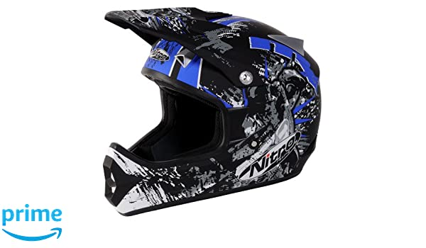 Amazon.com: Nitro Extreme MX Off-Road Helmet (Black/Blue, Small): Automotive