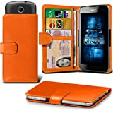 Acer Liquid Z320 Adjustable Spring Wallet ID Card Holder Case Cover Multiple Colours Available ONX3