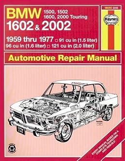 bmw 1602 and 2002 haynes workshop manual (classic reprints series