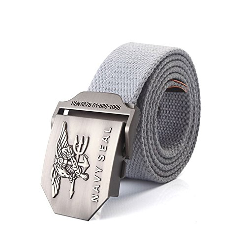 Meetloveyou men's NAVY SEAL metal buckle military belt Army tactical belts for Male top quality men strap Black strips Gray 120cm