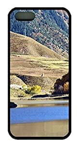 Beautiful Mountains and Rivers DIY Hard Shell Black Best Designed iphone 5/5s Case
