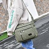 EasyHui Canvas Shoulder Messenger Bag Small