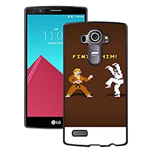 Hot Sale LG G4 Cover Case ,Finish Him Iphone Wallpaper Black LG G4 Phone Case Unique And Fashion Design