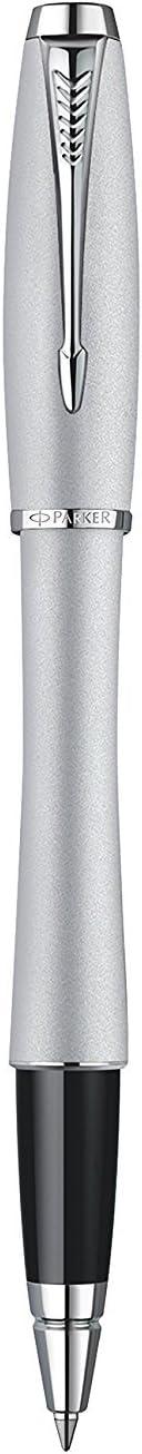 punta nera media finiture cromate Parker Urban argento Penna roller Fashion Silver