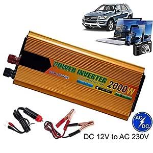 Inversor De Corriente Automático De 2000 W DC 12V A 220 V AC ...