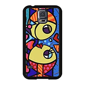 New Style Romero Britto Phone Case Cover For Samsung Galaxy s5 i9600 Romero Britto Luxury Pattern