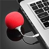 FormVan Mini Portable Balloon Speaker 3.5mm Audio Jack for Smartphone MP3 Red