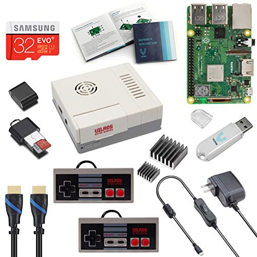 Vilros Raspberry Pi 3 Model B+ (B Plus) NES Style Retro Arcade Gaming Kit with 2 NES Style Gamepads & NES Style Fan-Cooled Case (Raspberry Pi 2 Preloaded)