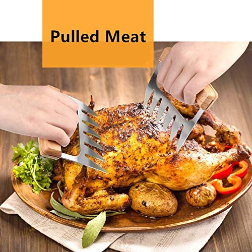 Pulled Pork /& Meat Claws Meat Shredder Forks and Smoking Accessories for Carving BBQGO Grill Barbecue Stainless Steel Meat Claws Lifting Handling