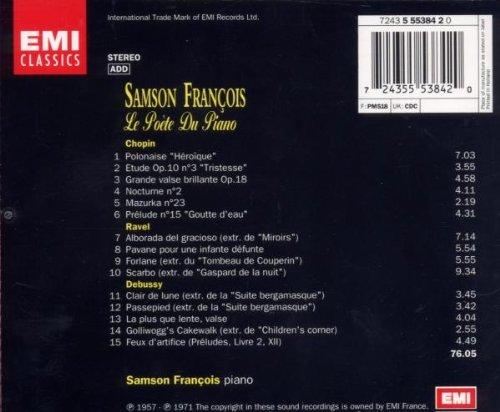 Samson Fran/çois Le po/ète du Piano