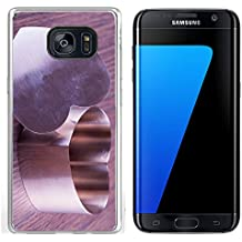 Luxlady Samsung Galaxy S7 Edge Clear case Soft TPU Rubber Silicone IMAGE ID 26037820 Iron heart for cooking over wooden background