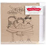 Adorn-It 81030 Art Play Kraft 3 Ring Binder Planner, 8'' x 10'', Calendar Girls, Brown