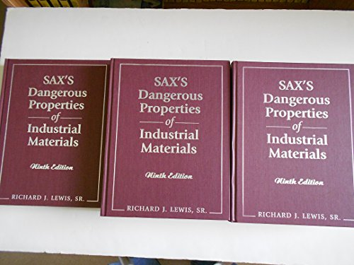 Saxs Dangerous Properties Of Industrial Materials  9Th Edition
