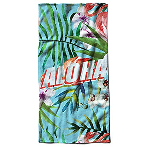 Aloha Hawaii Holiday Wild Flamingo Beach Towel 28