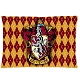 40 x 60CM Red Orange Harry Potter Pillow Case, White Blue Gryffindor Pillowcase Griffin Pattern Hogwarts School of Witchcraft and Wizardry Harrypotter Theme Wizards Magic Wands Diamond, Polyester