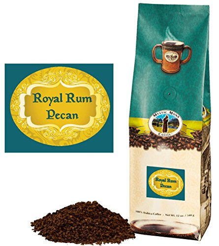 Mystic Monk Coffee: Royal Rum Pecan Ground (Flavored 100% Arabica Coffee) - 12 ounce bag