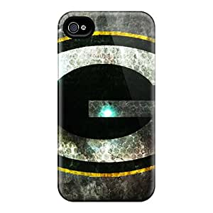 BGaston Iphone 4/4s Hybrid Tpu Case Cover Silicon Bumper Green Bay Packers