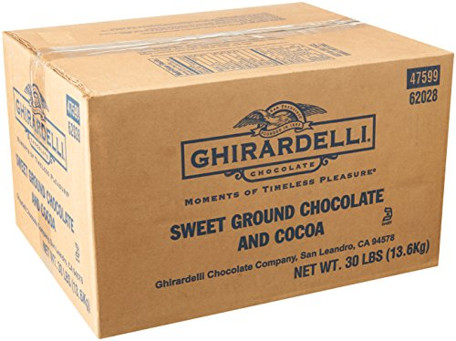 Ghirardelli Sweet Ground Chocolate & Cocoa Powder, 30 Pound
